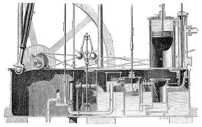 Watt Steam Engine Print by Science Photo Library