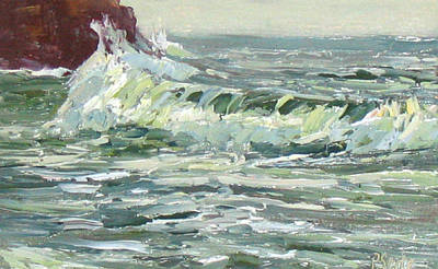 Wave Action Print by Patricia Seitz