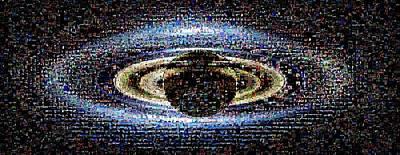 'wave At Saturn' Mosaic Print by Nasa/jpl-caltech/ssi