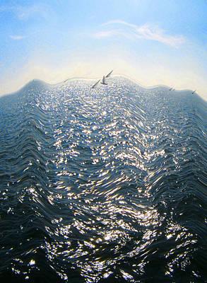 Wave Print by Ben and Raisa Gertsberg