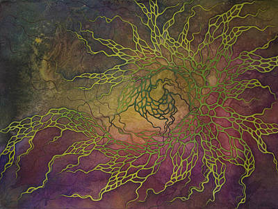 Cosmic Space Painting - Wave by Ellen Starr