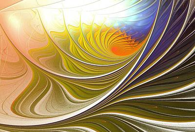Wall Digital Art - Wave Game by Anastasiya Malakhova