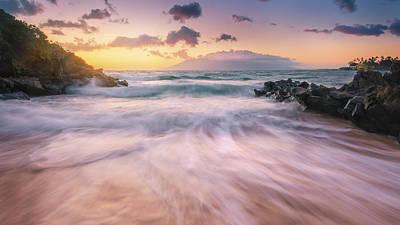 Wave Surge Print by Hawaii  Fine Art Photography