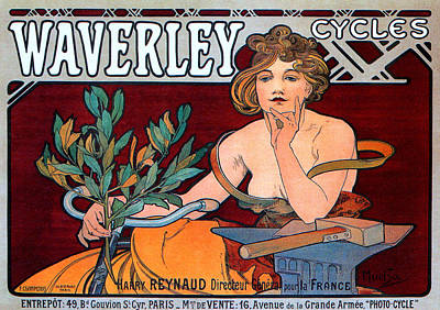 Affiche Mixed Media - Waverley Cycles by Charlie Ross