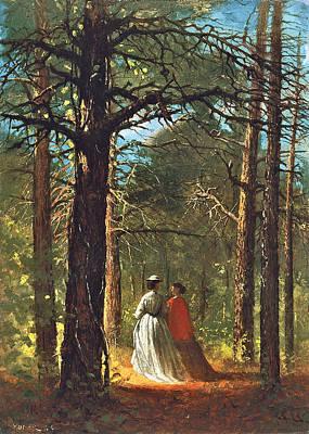 Stroll Digital Art - Waverly Oaks by Winslow Homer