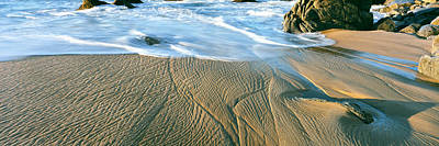 Lands End Photograph - Waves And Patterns In Sand, Lands End by Panoramic Images