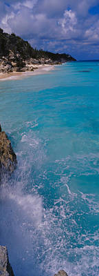 Bermuda Photograph - Waves Breaking On Rocks, Bermuda by Panoramic Images