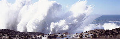 State Parks In Oregon Photograph - Waves Breaking On The Coast, Shore by Panoramic Images