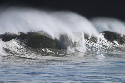 Waves Crashing On Mill Bay Beach Kodiak Print by Kevin Smith