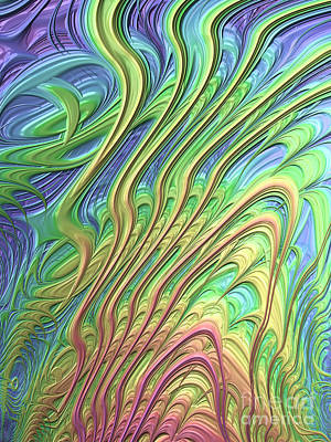 Web Digital Art - Waves by John Edwards