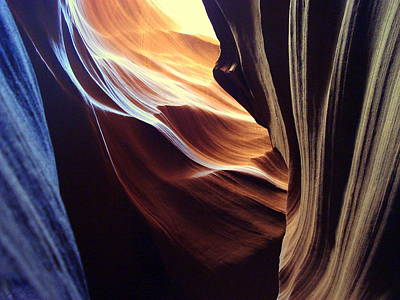 Waves Of Color Print by J Allen
