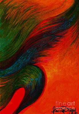 Waves Of The Wind Print by Fanny Diaz