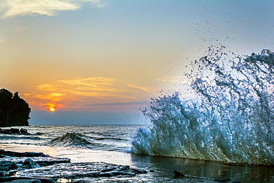 Webster Ny Photograph - Waves On Lake Ontario  by Tim Buisman