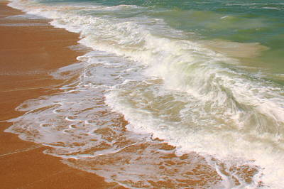 Waves On The Beach Details Print by Roupen  Baker