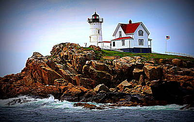 Waves On The Nubble 2 Original by Suzanne DeGeorge