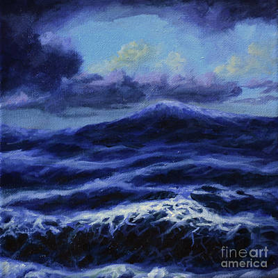 Seastorm Painting - Waves by Ric Nagualero