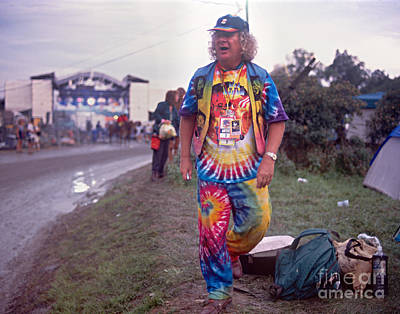 Wavy Gravy At Woodstock Print by Chuck Spang