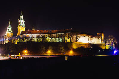 Cracow Photograph - Wawel Castle At Night by Pati Photography