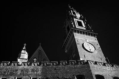 Polish City Photograph - Wawel Cathedral Clock Tower And Fortified Castle Red Brick Walls At The Entrance To Wawel Castle Krakow by Joe Fox