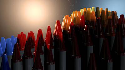 Kindergarten Digital Art - Wax Crayons Imagination by Allan Swart