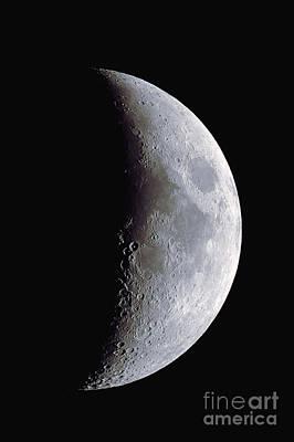 Waxing Crescent Moon, 11-30-2011 Print by John Chumack