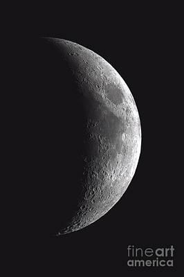 Waxing Crescent Moon 12-29-2011 Print by John Chumack