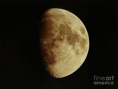 Waxing Gibbous Moon Print by John Chumack