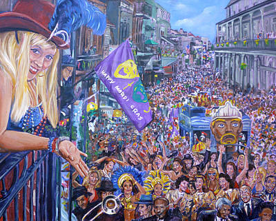Mardi Gras Painting - Way Down Yonder In New Orleans by Bryan Bustard