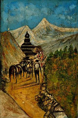 Way To God At Himalayas Original by Anand Swaroop Manchiraju