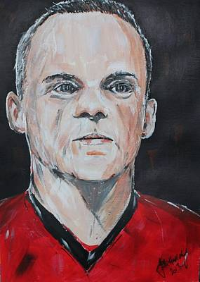 Wayne Rooney Painting - Wayne Rooney by John Halliday