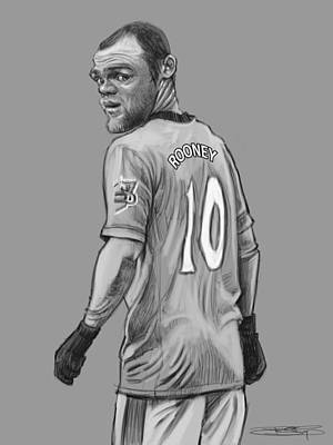 Wayne Rooney Digital Art - Wayne Rooney by Sri Priyatham