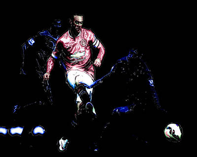 Wayne Rooney Digital Art - Wayne Rooney Working Magic by Brian Reaves