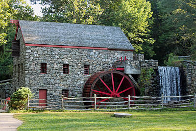 Wayside Grist Mill Print by Suzanne Gaff