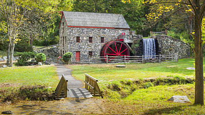 Wayside Inn Grist Mill Print by Kyle Wasielewski