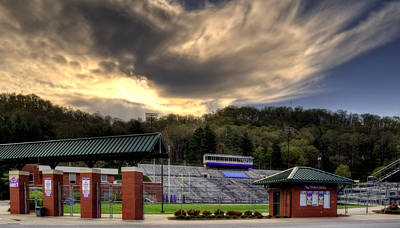 Wcu Catamounts Football Stadium Print by Greg Mimbs