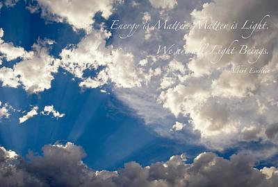 We Are All Light Beings Print by Mary Lee Dereske