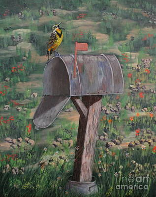 Meadowlark Drawing - We Are Moving In by Bob Williams