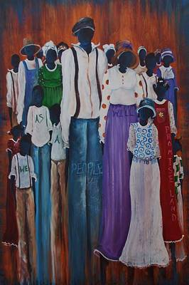 Washington D.c Mixed Media - We Are One by Sonja Griffin Evans