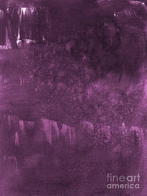 Purple Abstract Painting - We Are Royal by Linda Woods