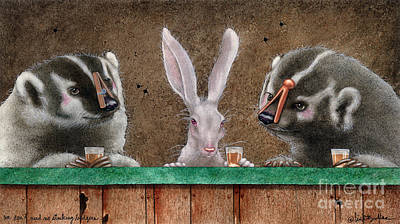 Hare Painting - We Dont Need No Stinking Badgers... by Will Bullas