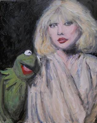 Muppets Painting - We Have Established Our Bond - Kermit The Frog And Debbie Harry by Gerald Hubert