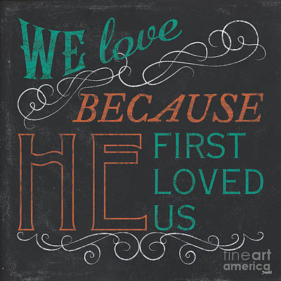 We Love.... Print by Debbie DeWitt