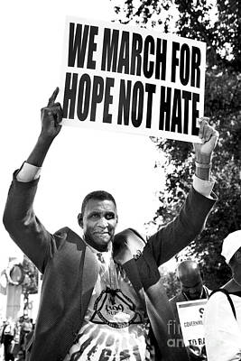 We March For Hope Not Hate Print by Diane Diederich