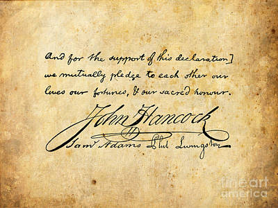 America Digital Art - We Mutually Pledge... by God and Country Prints