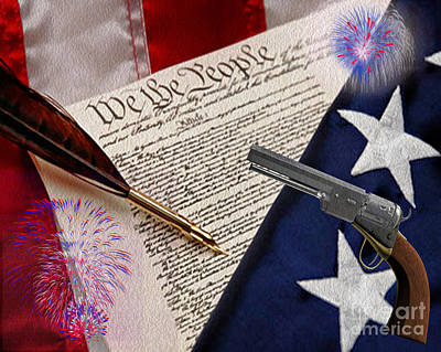 Civil Liberties Photograph - We The People by Cheryl Young