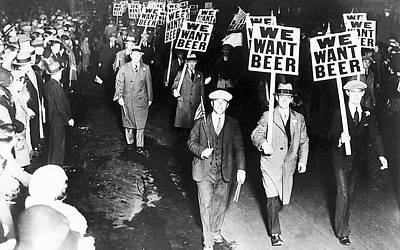 Prohibition Photograph - We Want Beer by Unknown