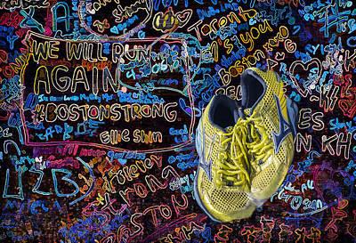 Sneakers Digital Art - We Will Run Again by Penny Pesaturo