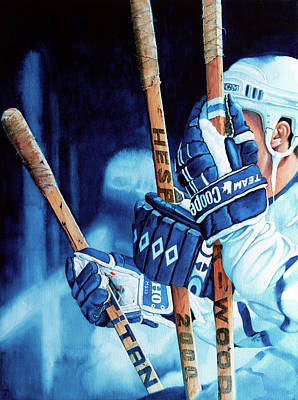 Hockey Action Iphone Case Painting - Weapons Of Choice by Hanne Lore Koehler