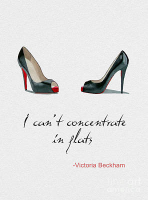 Wear The Right Shoes Print by Rebecca Jenkins