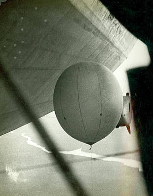 Lighter Photograph - Weather Balloon Launch From Graf Zeppelin by Us Coast Guard